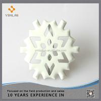 Metal snowflake shaped craft brads