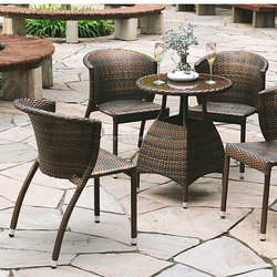 Popular Modern Comfortable Rattan Dining chair table
