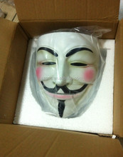 Top solid quality white /bronze Movie Guy Fawkes resin V vendetta anonymous mask for sale
