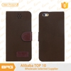 BRG Genuine Nubuck Leather Protective flip cover leather case for 5.5 inch iPhone 6 plus with Card Slots Stand Function
