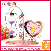 heart shape european style classical sand timer / retro design hanging hourglass metal art B04926