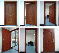 low price wooden color steel apartment door