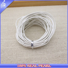 Jewlery Making Components, 2.0 mm White Color Genuine Leather Cord
