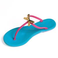 2015 new style wholesale women rhinestone flip flops