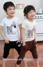 de alta calidad impreso ropa de niño conjunto