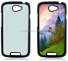 Hot 2D PC hard plastic sublimation phone cases for HTC one S with metal insert sublimation printing