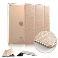 Luxury Smart Cover for iPad, Silk Pattern Three Folding Stand Leather Case Cover for iPad Mini 1 2 3