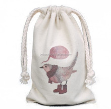Wholesale recyclable shopping custom drawstring cotton bags pattern