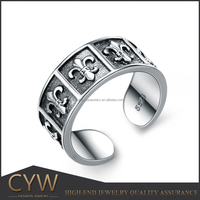 CYW 1 pcs moq tai silver men ring handmade jewelry trends 2015 without middle men