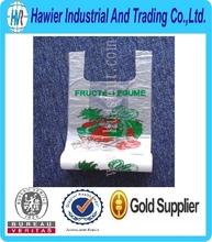 Hot sale pe plastic vest carrier scented transparent bag