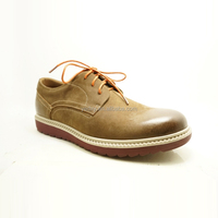 brown color distinctive latest oxfords deisgn men wholesale original brand casual shoes