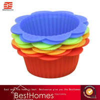 Flower shape silicone cake mold any beauty color