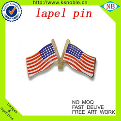 Custom national flag badge and double-flag-lapel pin