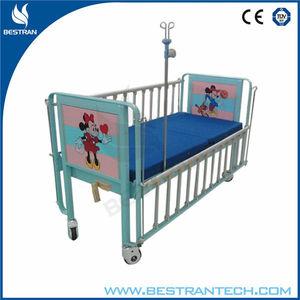 BT-AB002 1-manivela manual cama de niño Hospital Cama médica para niños Cama de niño