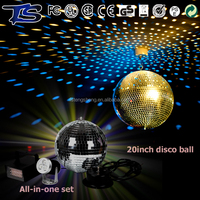 50cm DJ party stage ceiling decor clear glass disco ball