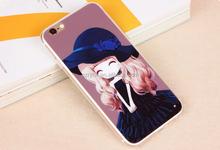 Custom design cute transparent TPU phone case back cover, fashion phone cover