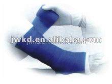 Blue and white medical fibreglass tape