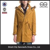 2015 Latest Coat Styles For Men Outerwear, Custom Made Fur Collar Coat Men, Wholesale Cheap Winter Long Trench Coat Men