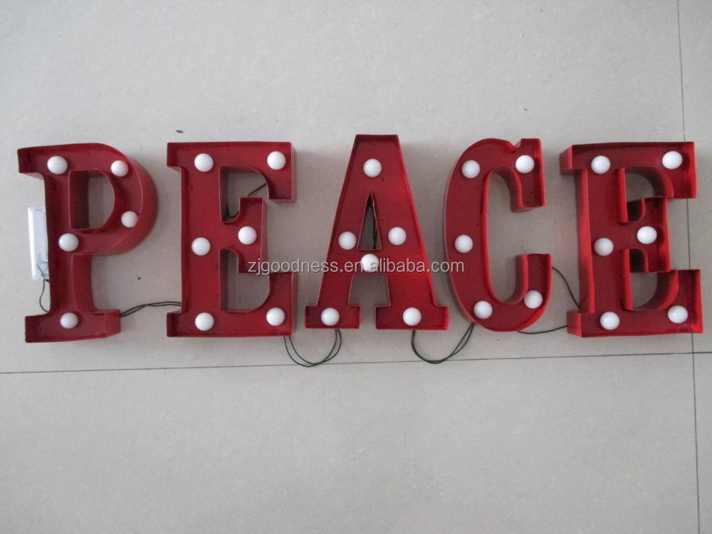 Wholesale christmas sign metal industrial marquee light