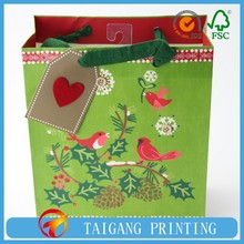 fancy gift paper bags new green fashion gift bags packaging bag export