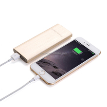 Portable smart 2.0C quick power bank 6000mah and portable mobile charger for iphone 6s