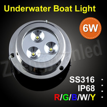Chinese supplier IP68 6W LED surface-mounted underwater light with different colors 100%waterproof