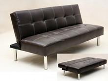 SB014 fold down click clack leather metal sofa bed
