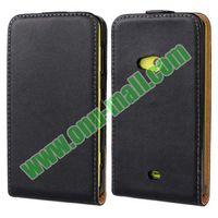 Commercial Style Up and Down black Flip for nokia lumia 625 cover case with best quality