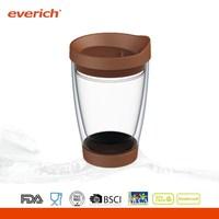 4oz/8oz/12oz/16oz/20oz high quality double wall drinking glass mug