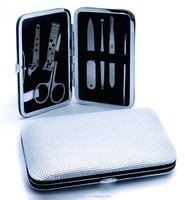 2015 Hot selling!!! Ultra quality Pure color nail kit 7pcs stainless steel nail care kit elegant professional manicure set