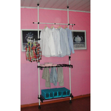 ajustable clothes hanging rack