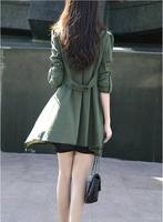 плюс размер xxl осенью случайные девушки тонкий тонкий плащ, воланами карман desigual пальто