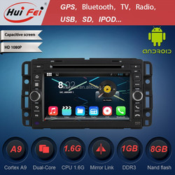 """Built-in 3G WIFI GPS Car Radio For GMC 2007--2012 Double Din 7"""" Touch Screen Mirror Link"""