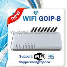 8 port 8 channel gsm voip gateway,8 port goip gsm gateway wireless adapter,8 sim gsm termination gateway goip 8