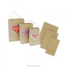 kraft brown paper shopping bag retail