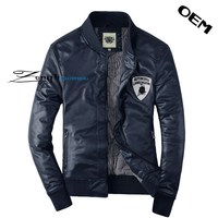 Leather motocycle jacket,men leather jacket with OEM design