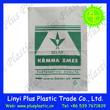 Pp Woven Sack With Color Band Feed Bags For Sale