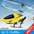 fd1109 coaxial rc helicóptero del simulador de vuelo ls modelo de helicóptero