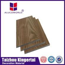 Alucoworld Standard traditional interior wall wood paneling aluminium composite panel(ACP) in ivory white color