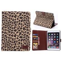 Fashion Leopard Card Pocket Protect Case For Apple Ipad Mini 3,for ipad mini3 leather case