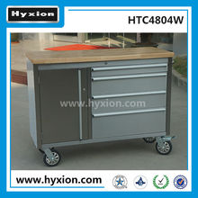 Stainless steel roller cabinet 4 drawer 48 Inch aluminum handle tool box