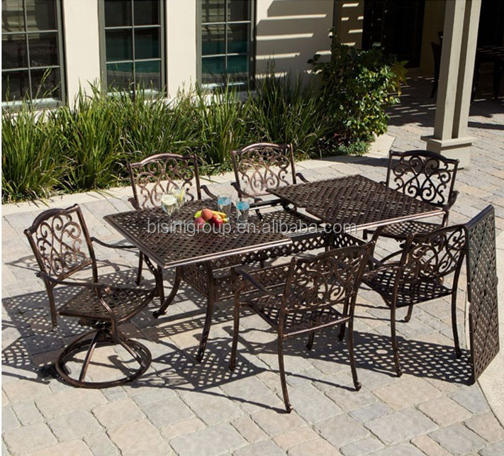 Garden Metal Dining Set Cast Iron Cast Aluminum Furniture