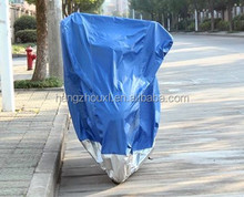 190T polyester coating silver motorcycle cover at factory price with free sample