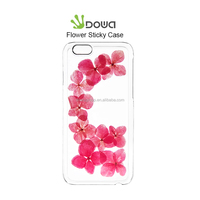 Real flower invisible sticky gel epoxy phone case for iPhone 6s all models