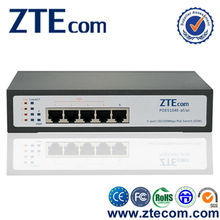 IEEE 802.3at 5 ports 10/100M Small PoE Switch from ZTEcom
