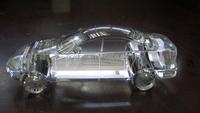 Latest design handmade crystal glass 3d car model