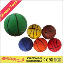 Stress Basketball Shape Ball Toys, PU Sport Ball
