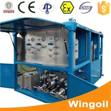 skid mounted portable hydraulic vehicle engine testing equipment for pneumatic test /pipeline pressure pump