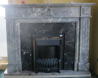 modern marble gas fireplace/stone firplace