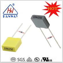Shenzhen Wholesale Full range MINI BOX Polypropylene Film Capacitors 0.1uf 250V